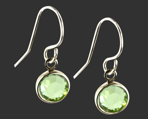 925 Sterling Silver Swarovski Crystal Birthstone Earrings