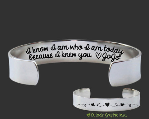 I Am Who I Am Today Personalized Bracelet | Thank you Gift