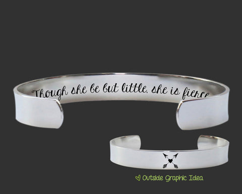 Though She Be But Little She Is Fierce Bracelet | William Shakespeare