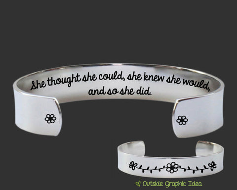 She Thought She Could Bracelet | Graduation Gift