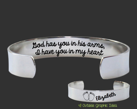 God Has You Personalized Memory Bracelet | Sympathy Gift