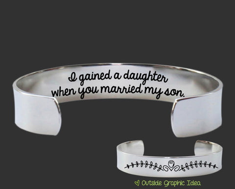 I Gained a Daughter Bracelet | Daughter In Law Gift