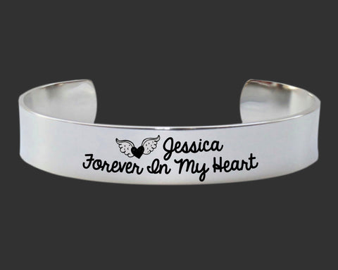 Forever in my Heart Personalized Memory Bracelet