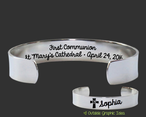 First Communion Personalized Bracelet