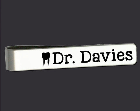 Dentist Personalized Tie Bar | Dentist Gift