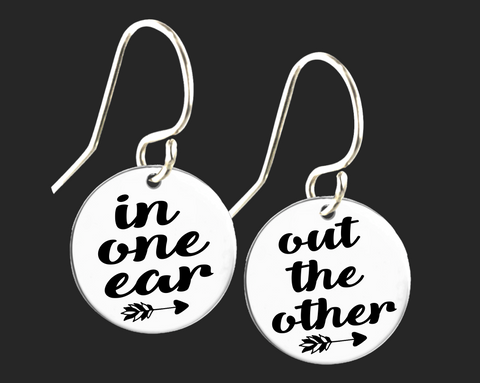 In One Ear Out the Other Earrings | Korena Loves