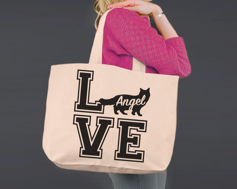 Ragdoll Cat Love | Personalized Canvas Tote Bag
