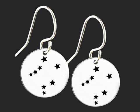 Libra Constellation Zodiac Earrings | Korena Loves