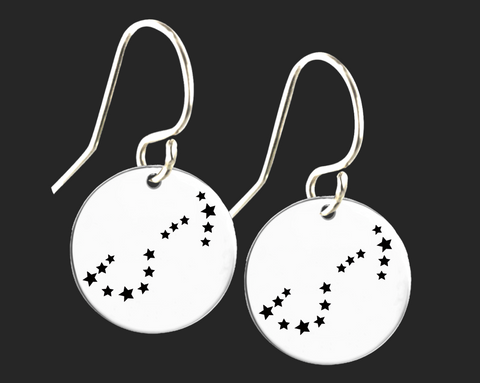 Scorpio Constellation Zodiac Earrings | Korena Loves