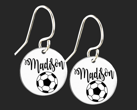 Personalized Soccer Earrings | Korena Loves