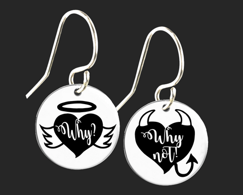 Angel Devil Funny Earrings | Korena Loves