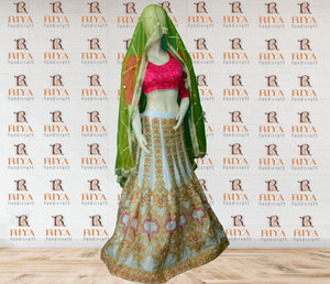 Embroidery And Thread Work Lehenga Choli