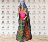 Bridal Embroidered Gotta Work Lehenga with Heavy Embroidery Dupatta