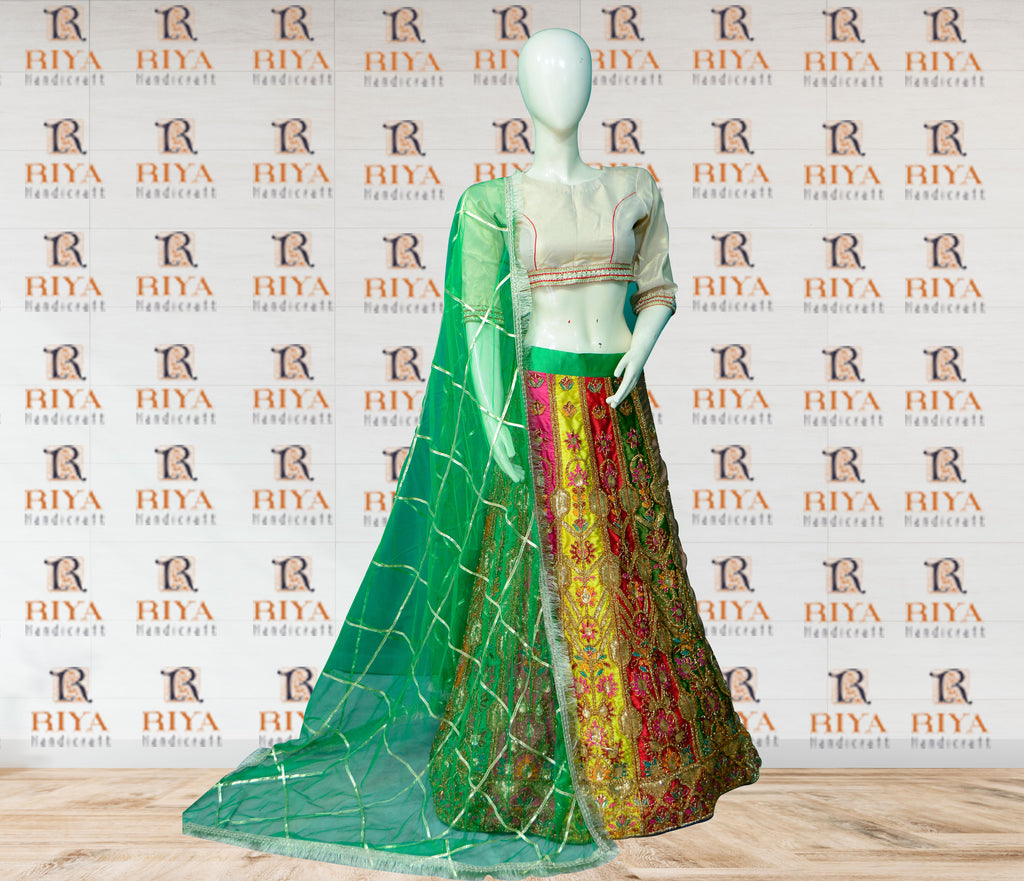 Multi color Gotta work Lehenga