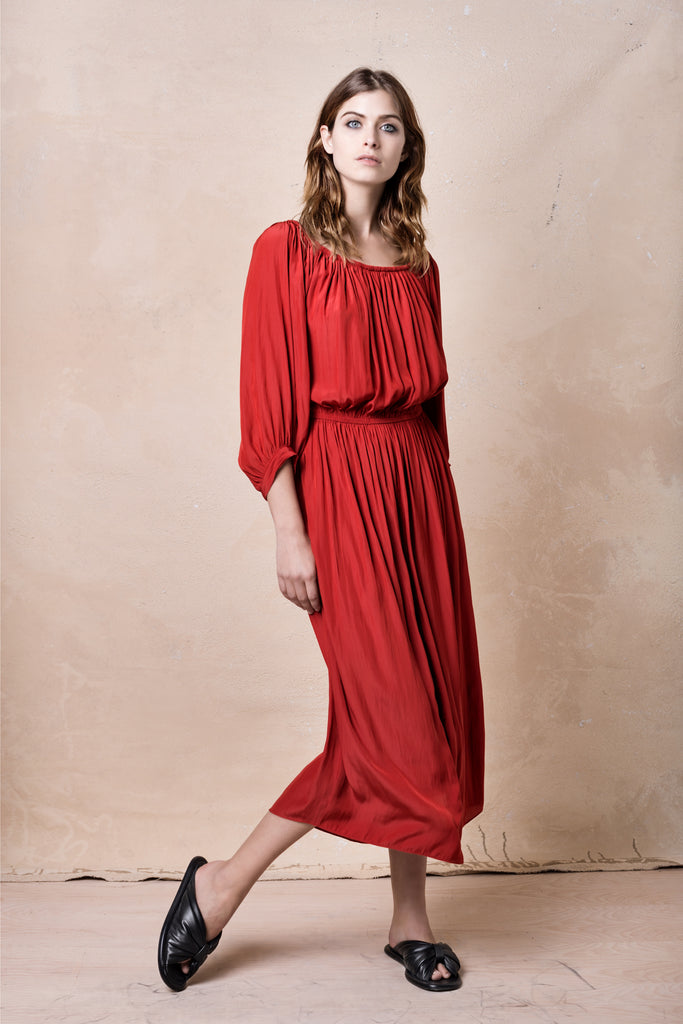 Gypset Dress in Crimson