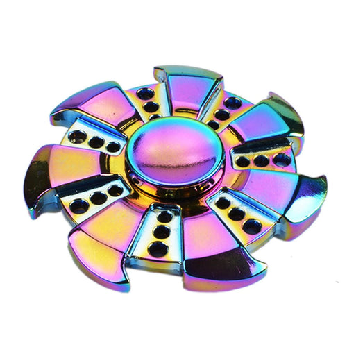Saw Rainbow Heptagonal Hand Spinner
