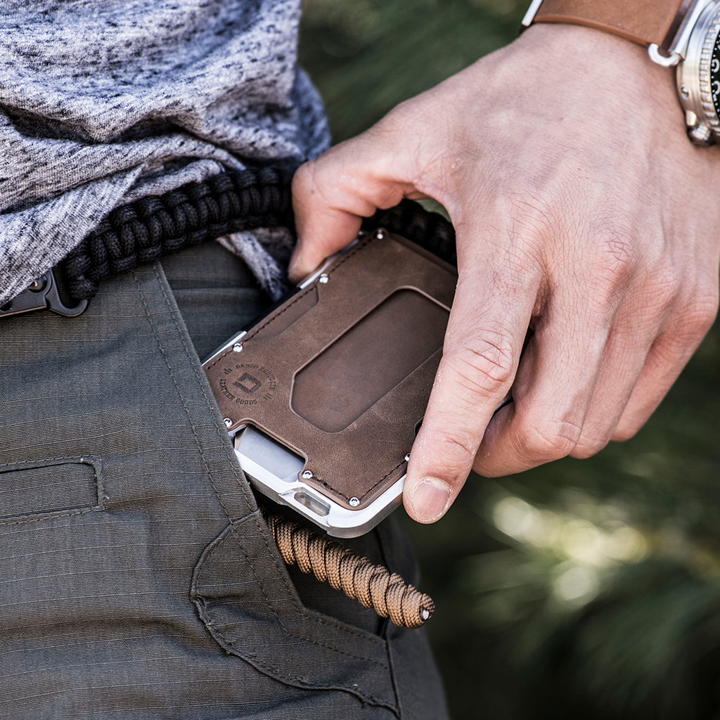 M1 MAVERICK TACTICAL WALLET - SINGLE POCKET RAW LEATHER