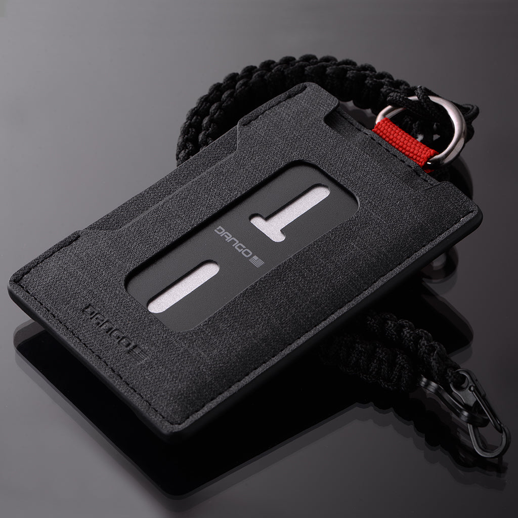 Great for paracord! Black ID Badge Clip
