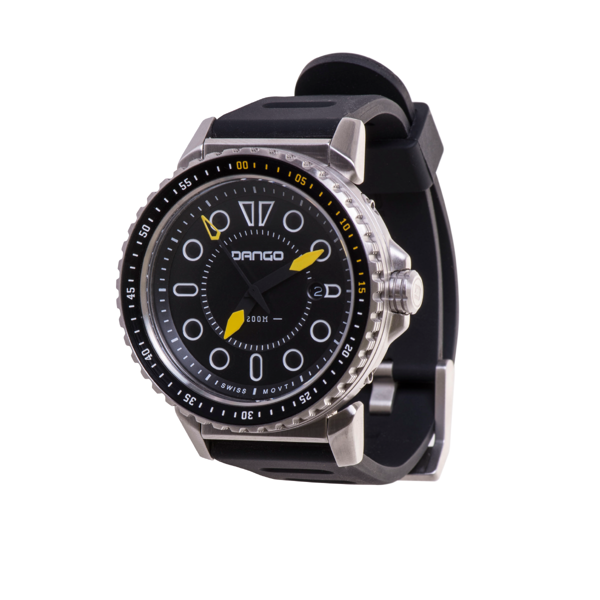 DV-01 - DIVE WATCH WITH SILICONE SPORT STRAP - Dango Products