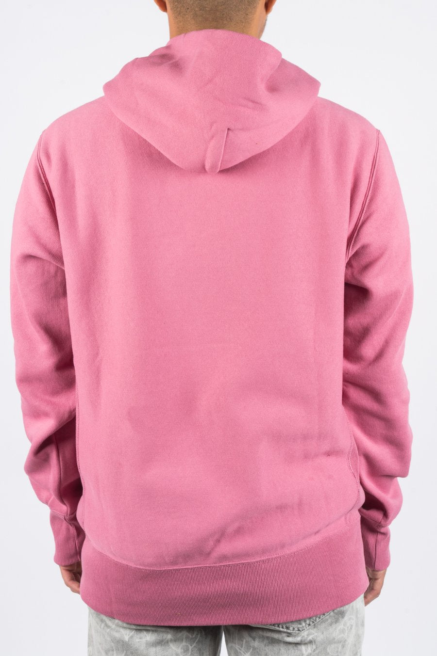 Champion Reverse Weave Small Script Hooded Sweatshirt Elegant Mauve - Large