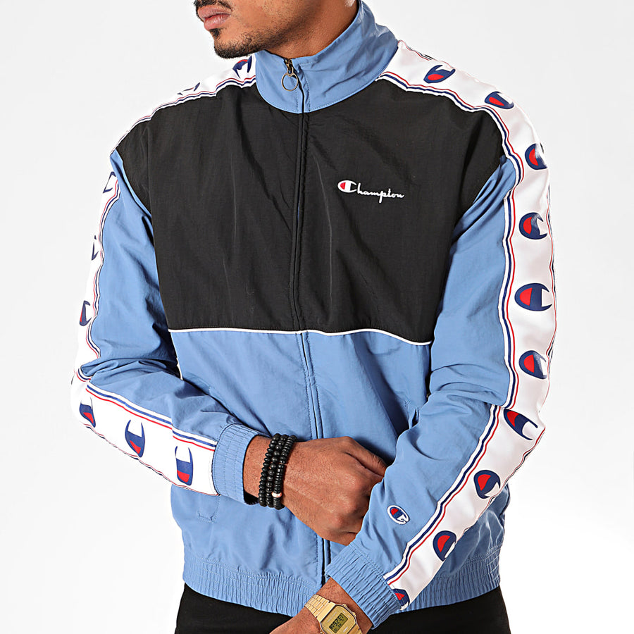 Champion Zipped Light Blue Jacket - X-Large