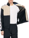Champion Reverse Weave Full Zip Sweatshirt - Black/Beige - Medium