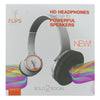 Flips Audio Collapsible HD Headphones and Stereo Speakers, White