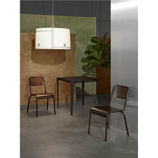 Diesel with Foscarini Fork XL Pendant, Satin PMMA & Varnished Steel in Grey