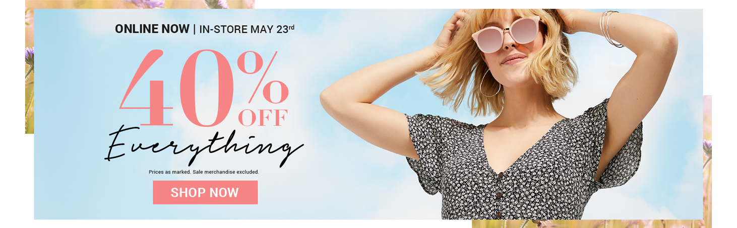 40 % off everything | Shop now