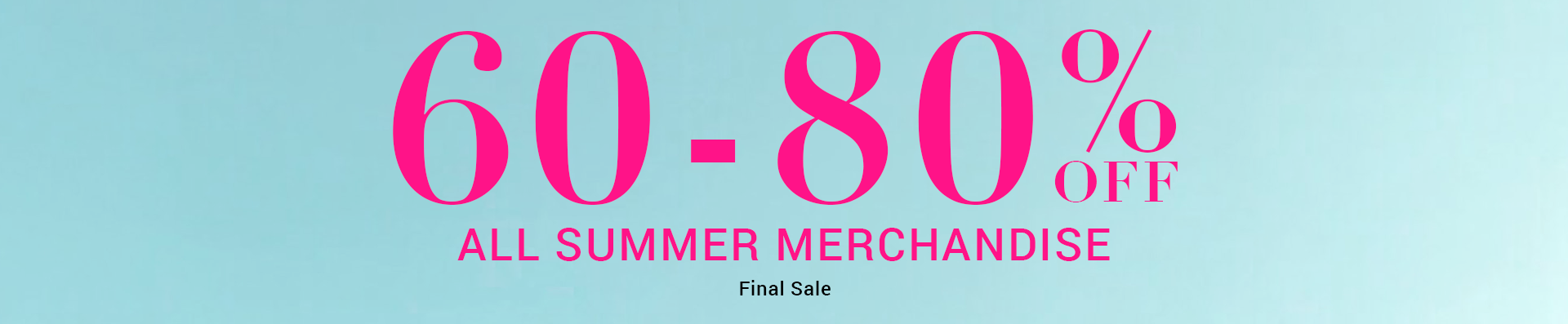 Women Summer Sale