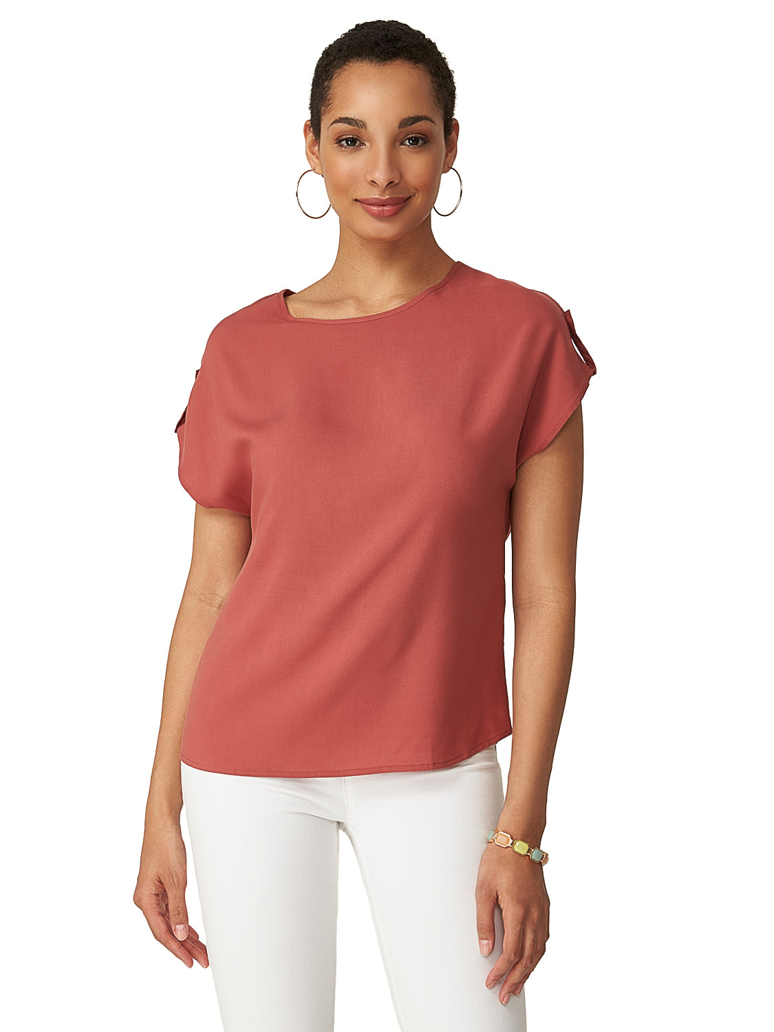 7c734c4d69b33 Round Neck Woven Top Round Neck Woven Top