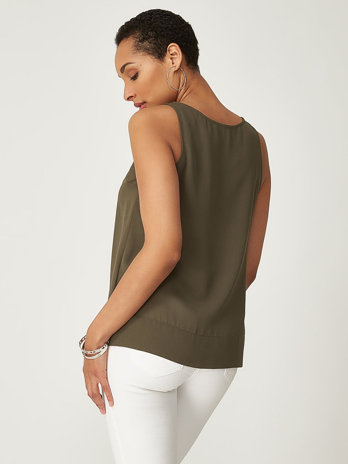 Deep Hem Sleeveless Tank Top