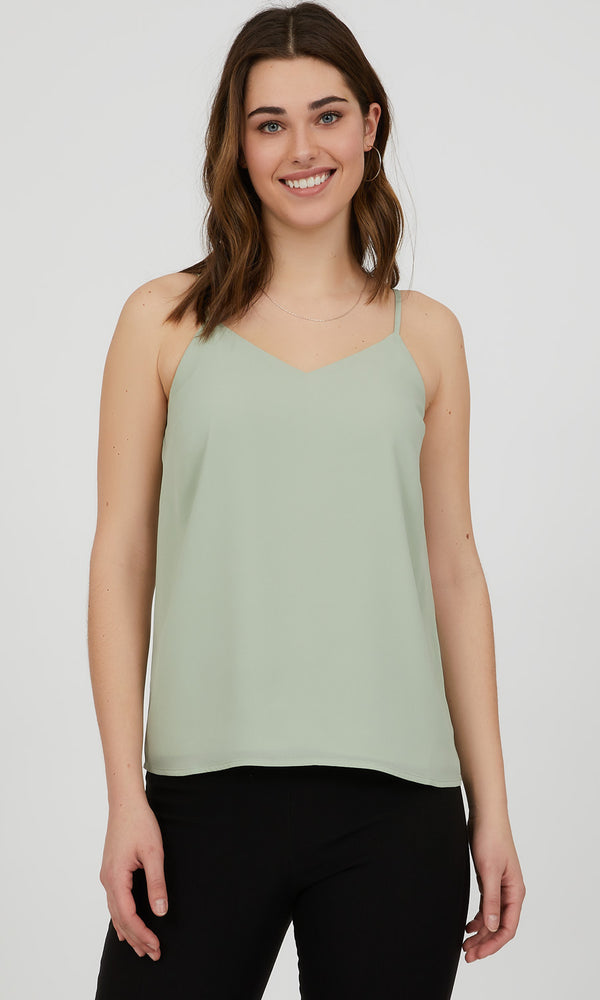 Adjustable Strap Chiffon Camisole