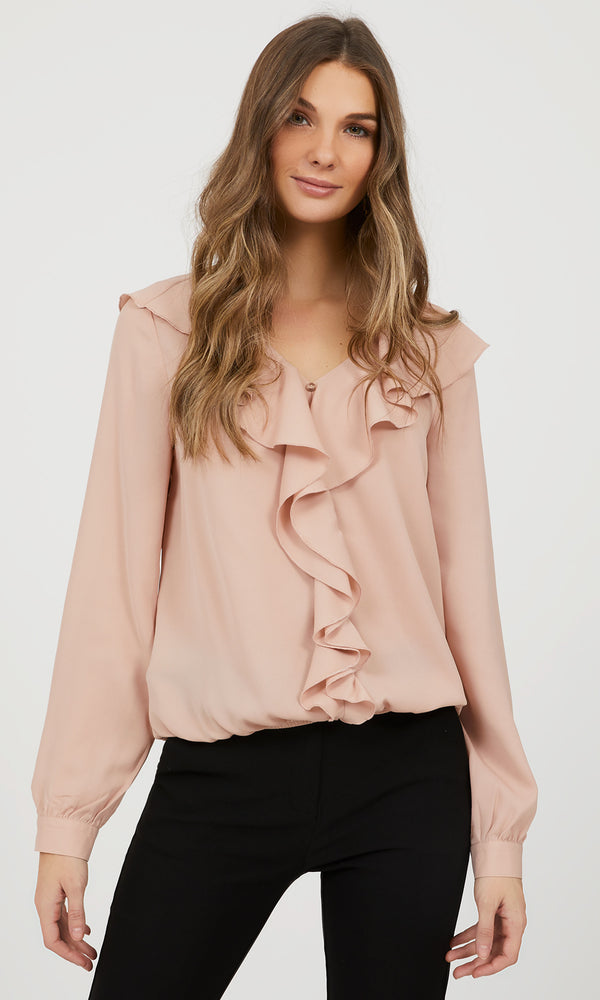 Ruffle Collar Blouse