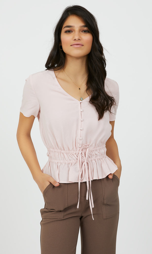 Button-Down Jacquard Blouse