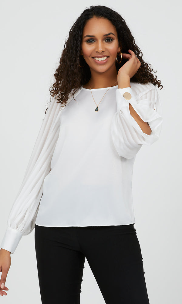 Raglan Sleeve Satin Top
