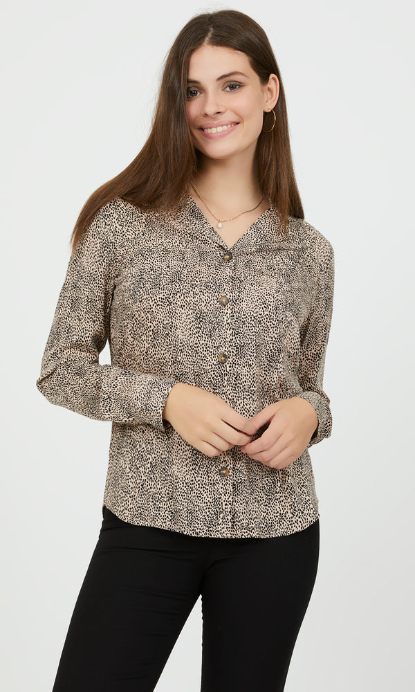 Printed Button-Down Shirt