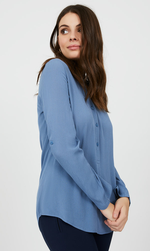 Long Sleeve V-Neck Top