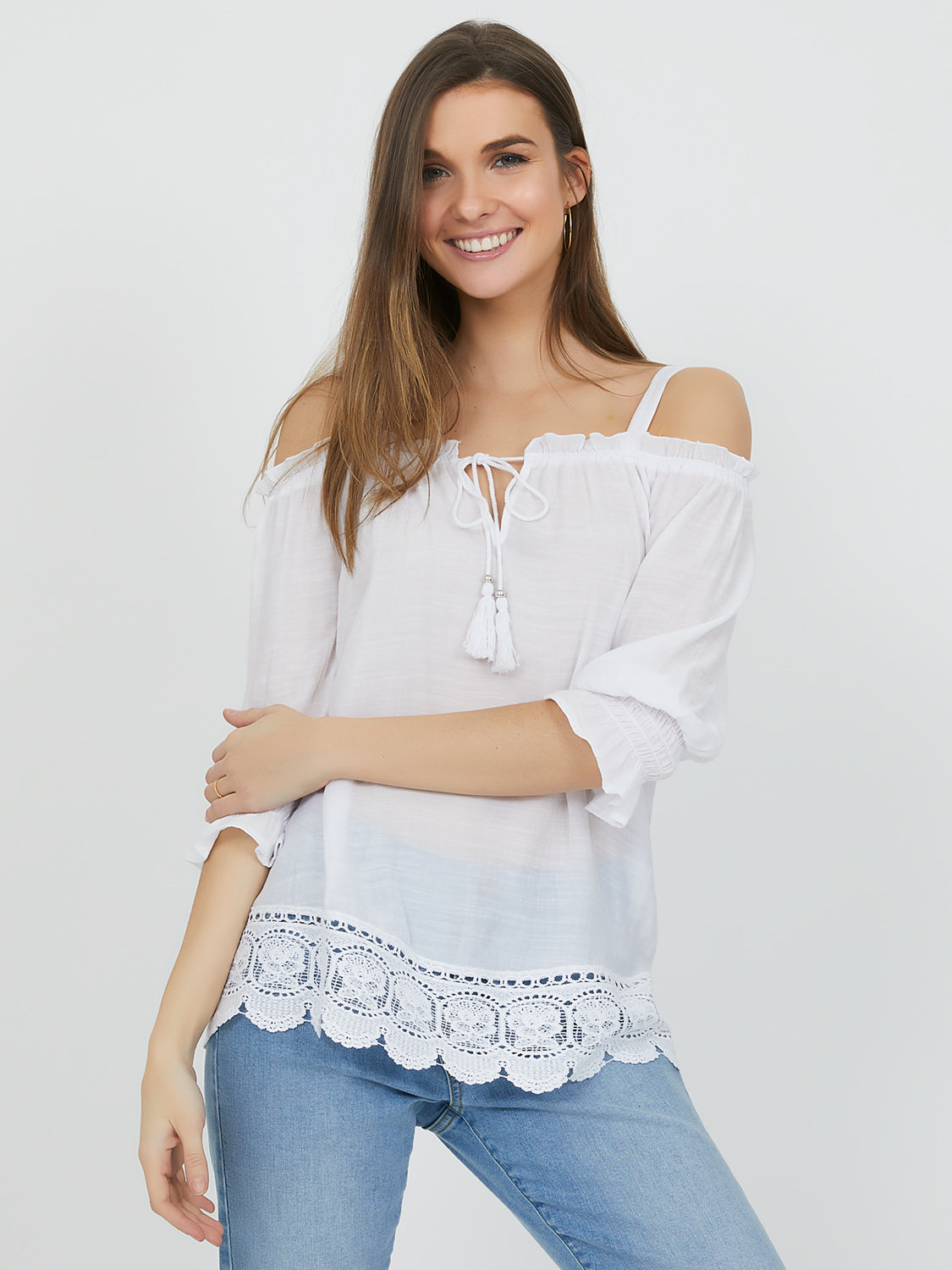 Off-The-Shoulder Peasant Blouse