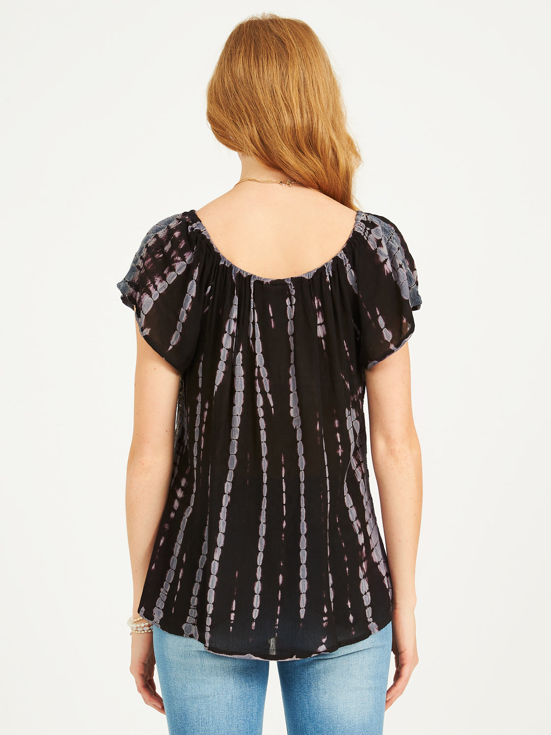 Short Sleeve Tie-Dye Top