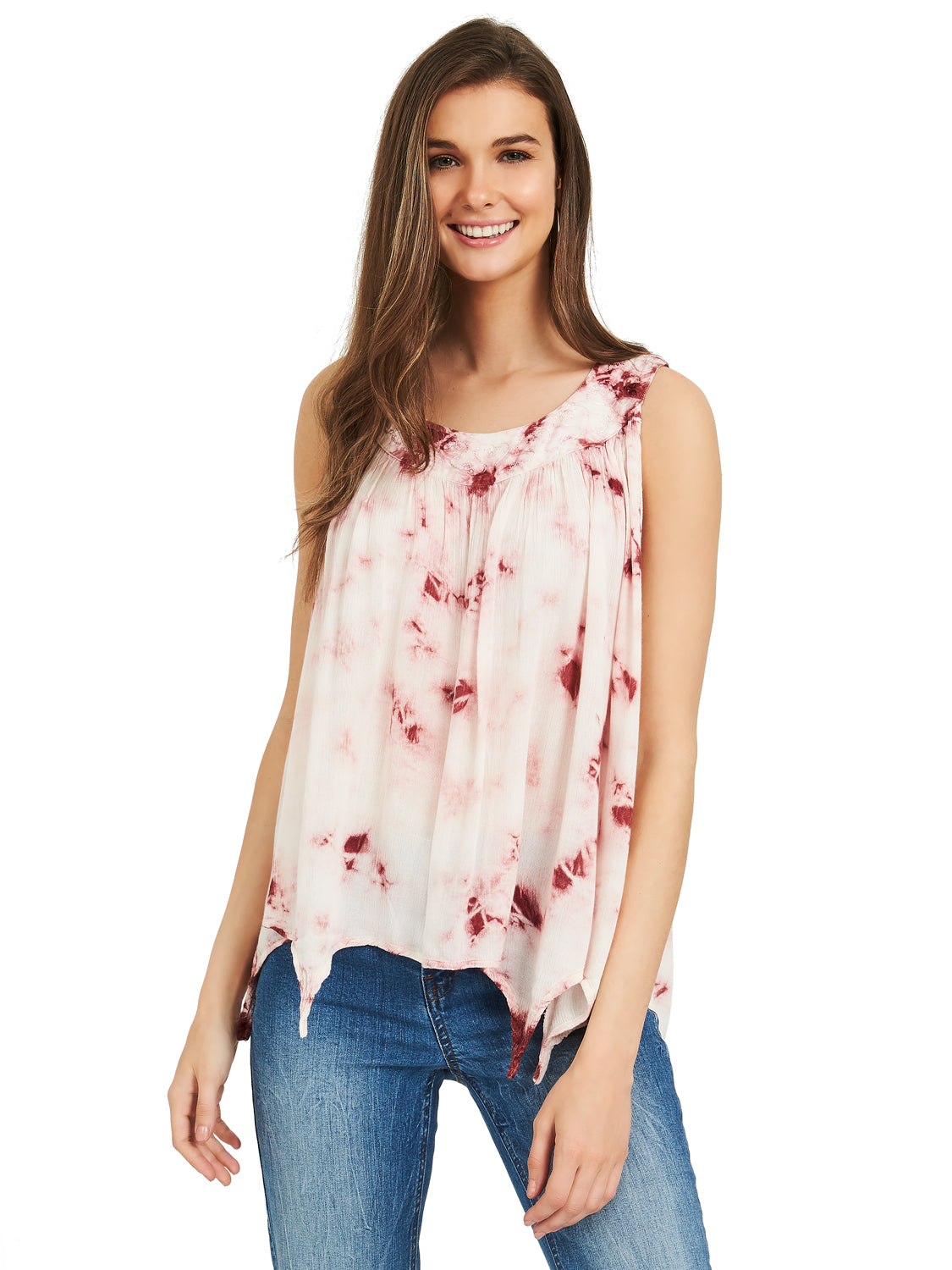 834e4188367 ... Tie-Dye Sharkbite Hem Top