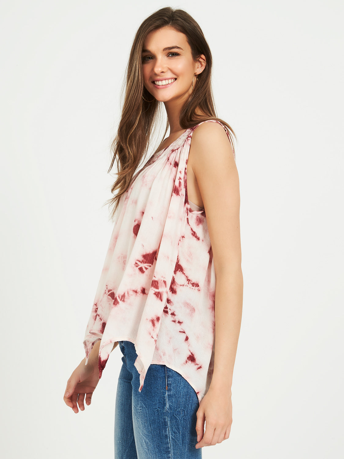 Tie-Dye Sharkbite Hem Top