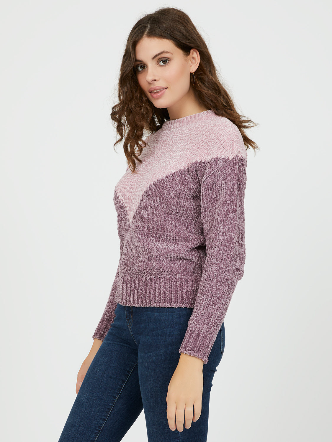 Colour Block Chenille Sweater