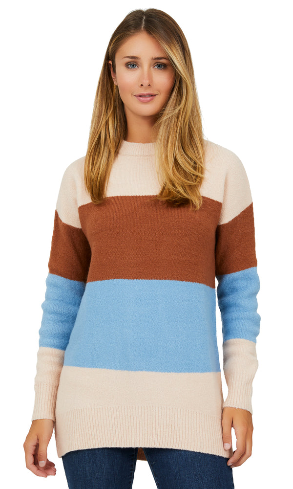 Colourblock Crew Neck Sweater