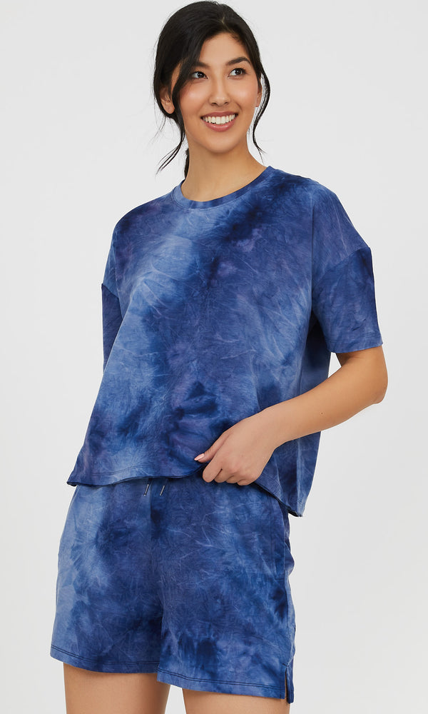 Tie-Dye French Terry Loose Tee