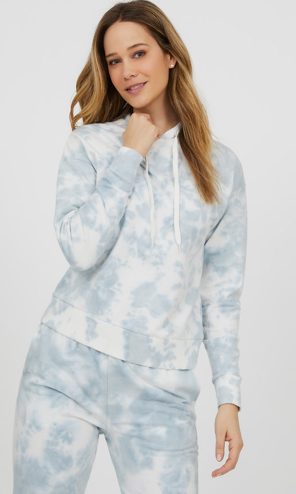 Tie-Dye French Terry Hoodie Sweatshirt