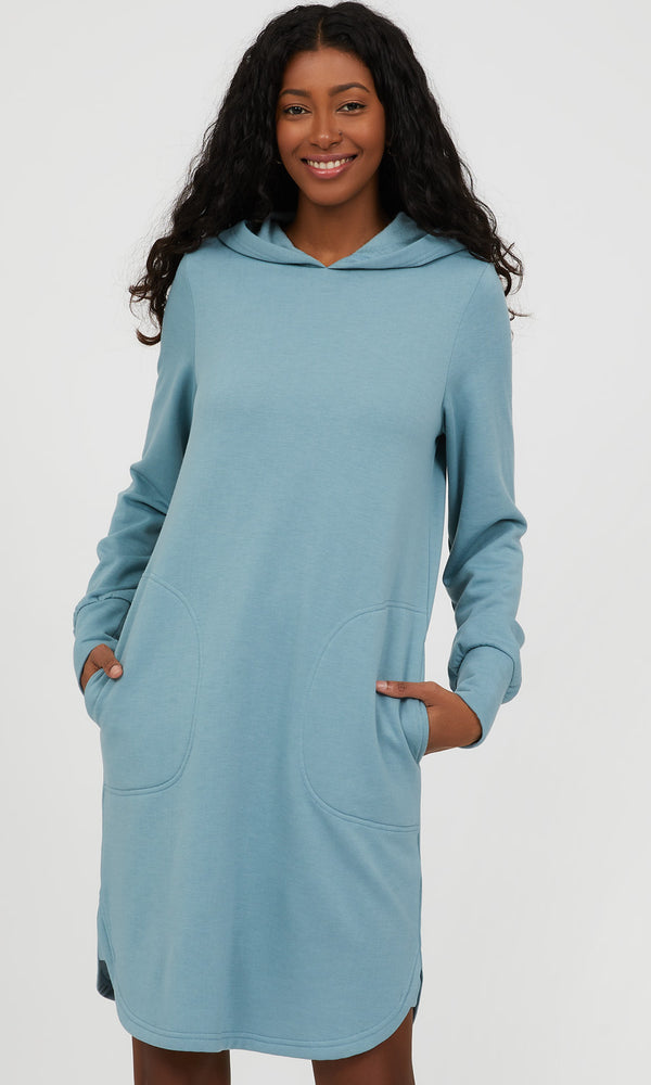 Hoodie Fleece Sweatshirt Mini Dress