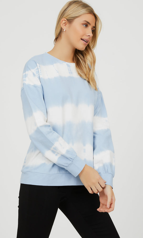 French Terry Tie-Dye Sweatshirt