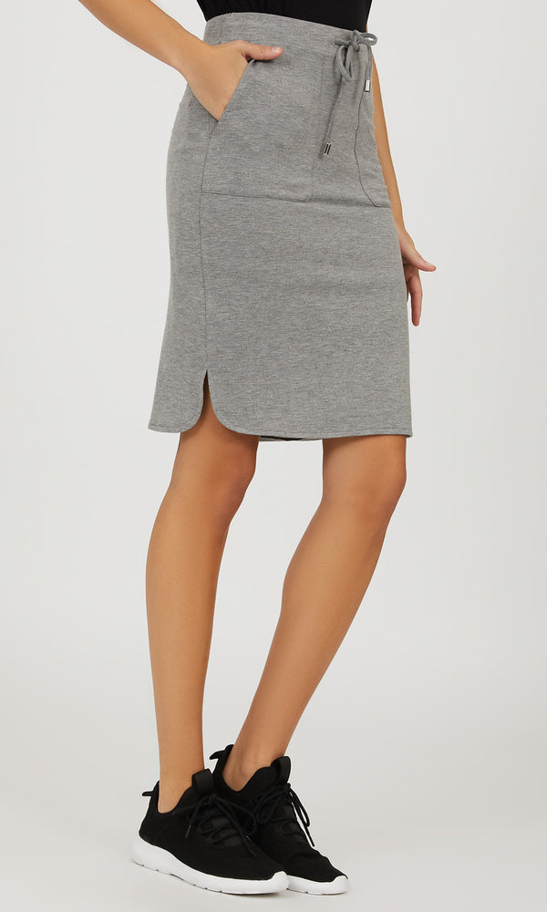 Pull-On French Terry Mini Skirt