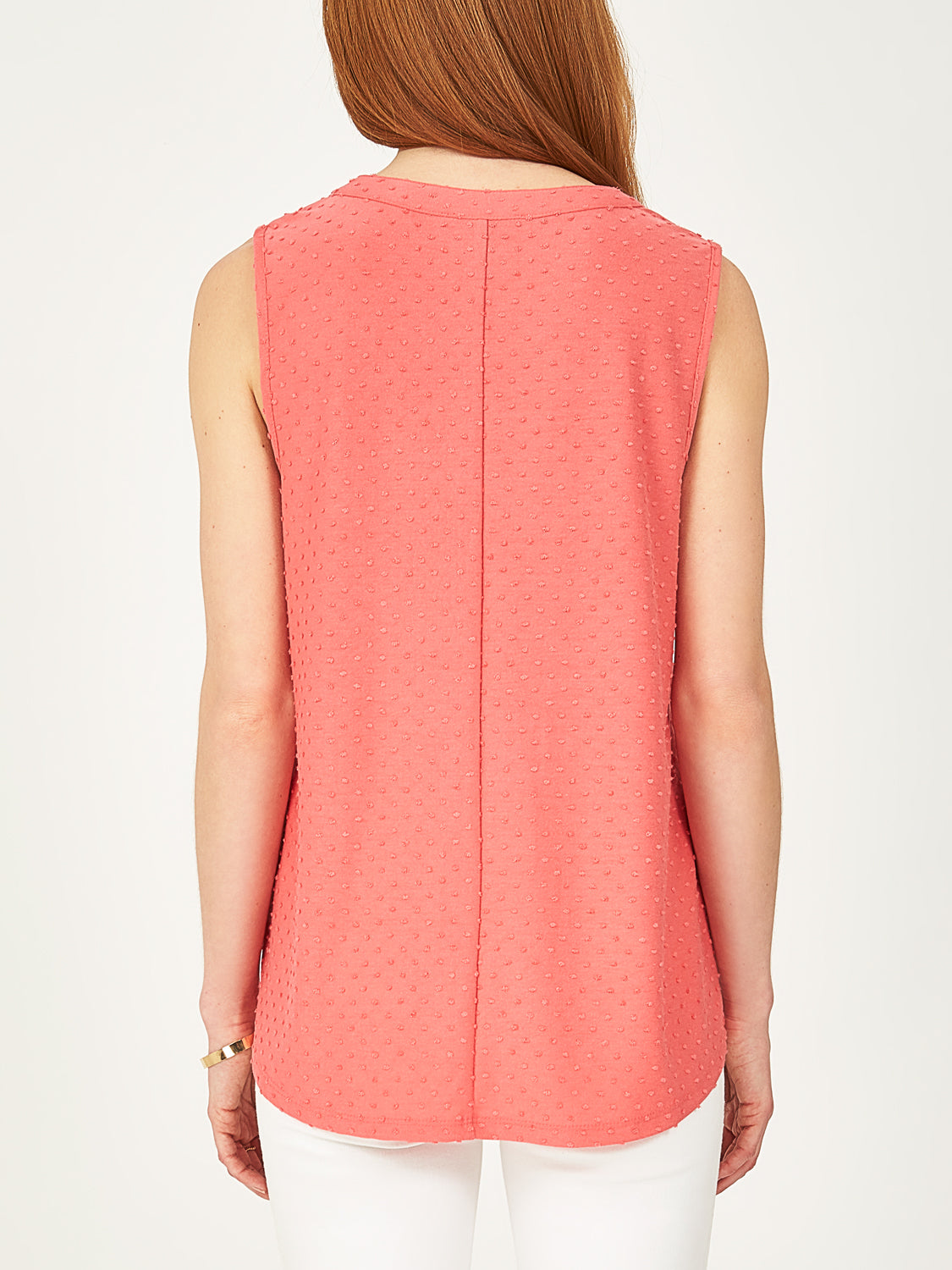 Dotted Notch Neck Top